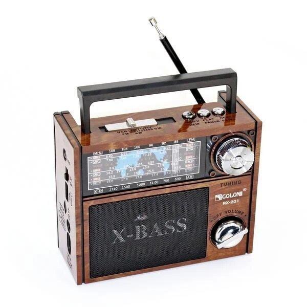 Радиоприёмник Golon RX-201 Коричневый