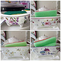 Керамическая подставка-ванночка с губкой