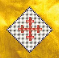 Схема на ткани для вышивания бисером Славянский символ. Вечный огонь КМР 6101