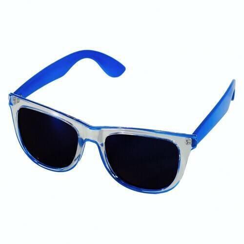 """""""МАЛИБУ"""" (WAYFARER). Очки с зеркальными стеклами, голубые"""