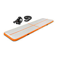 Мат гимнастический надувной 4FIZJO Air Track Mat 500 x 100 x 10 см оранжевый