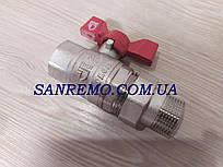 """Кран с американкой никель прямой шаровой SD Forte 1"""""""