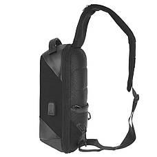 Рюкзак протикрадій Bobby однолямочный 24х33х12 тканина поліестер, колір чорний ксНЛ1691ч, фото 2