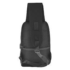 Рюкзак протикрадій Bobby однолямочный 24х33х12 тканина поліестер, колір чорний ксНЛ1691ч, фото 3