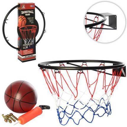 Баскетбольное кольцо 46см. металл, мяч, насос и дюбеля (MR 0168), фото 2