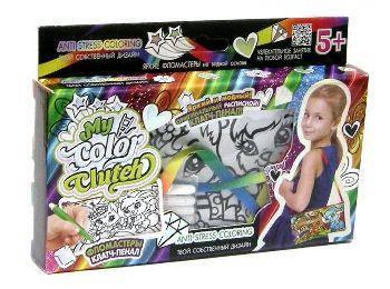 """Набор для творчества """"My Color Clutch"""", клатч-пенал-раскраска """"Кролик и белочка"""" CCL-02-06"""