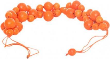 """Деревянное ожерелье """"Гроздь"""" (оранжевое), 25 см Д378ут-2"""