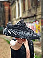 Кроссовки мужские Adidas Yeezy 700 в стиле Адидас Изи, текстиль, код Z-3009. Черные
