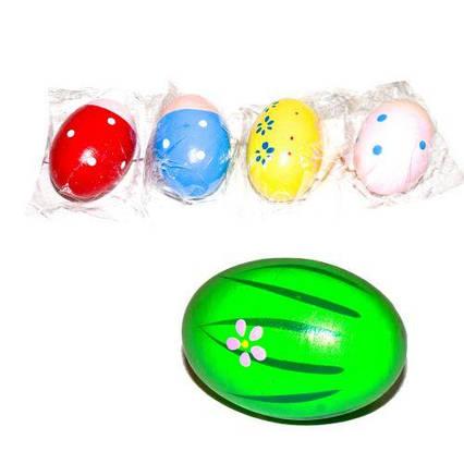 Деревянное яйцо-погремушка Д353у-1