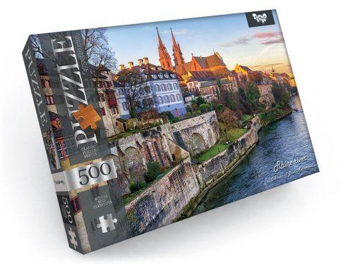 """Пазлы """"Река Рейн, Швейцария"""", 500 элементов C500-10-01"""