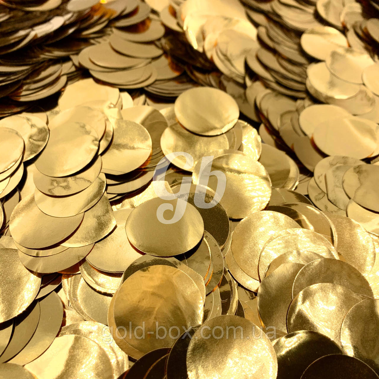 Фольговані конфетті золоті 50грамм 25мм