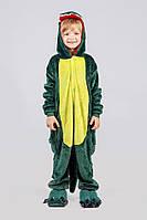 Детский кигуруми зеленый дракон (динозавр) krd0040