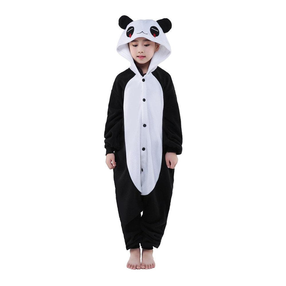 Детский кигуруми панда черно белый krd0046