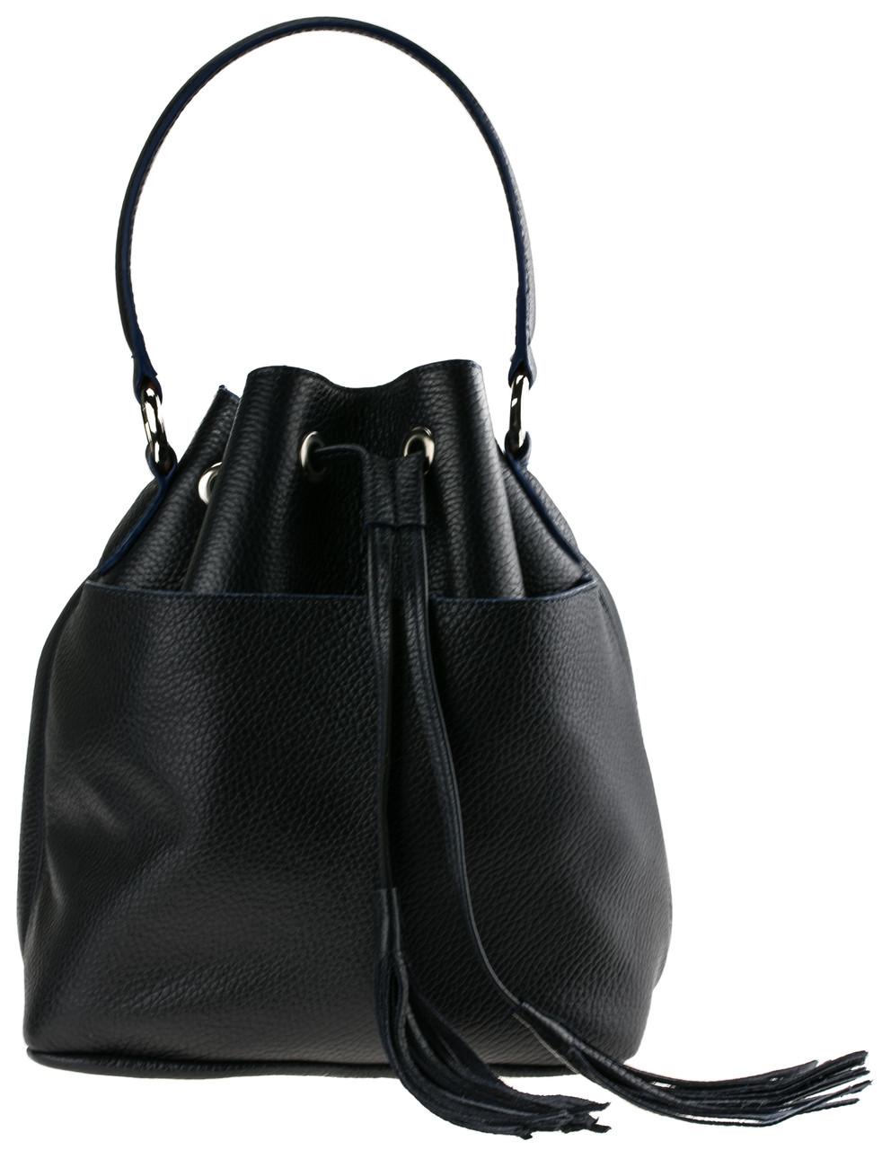 Женская сумка-мешок Valenta Черная (ВЕ-6173)
