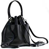 Женская сумка-мешок Valenta Черная (ВЕ-6173), фото 5