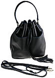 Женская сумка-мешок Valenta Черная (ВЕ-6173), фото 6