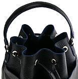 Женская сумка-мешок Valenta Черная (ВЕ-6173), фото 7