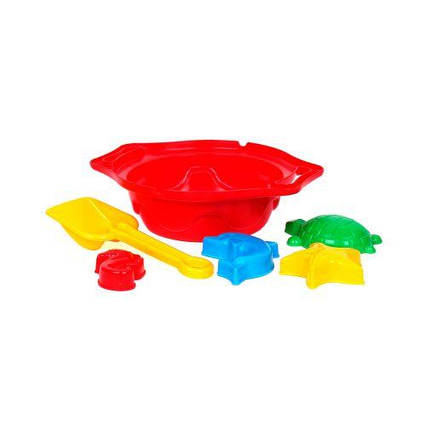 Сито с песочным набором ТехноК (красное) 1431