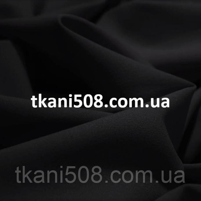 Креп-шифон однотонний Чорний