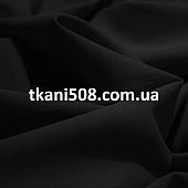Креп-шифон однотонный Чёрный