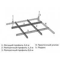 Профиль Kraft Fortis пристенный угол L 3м для подвесных потолков белый