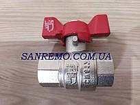 "Кран шаровый латунный SD Forte 3/4"" ВР для воды (бабочка) усиленный"