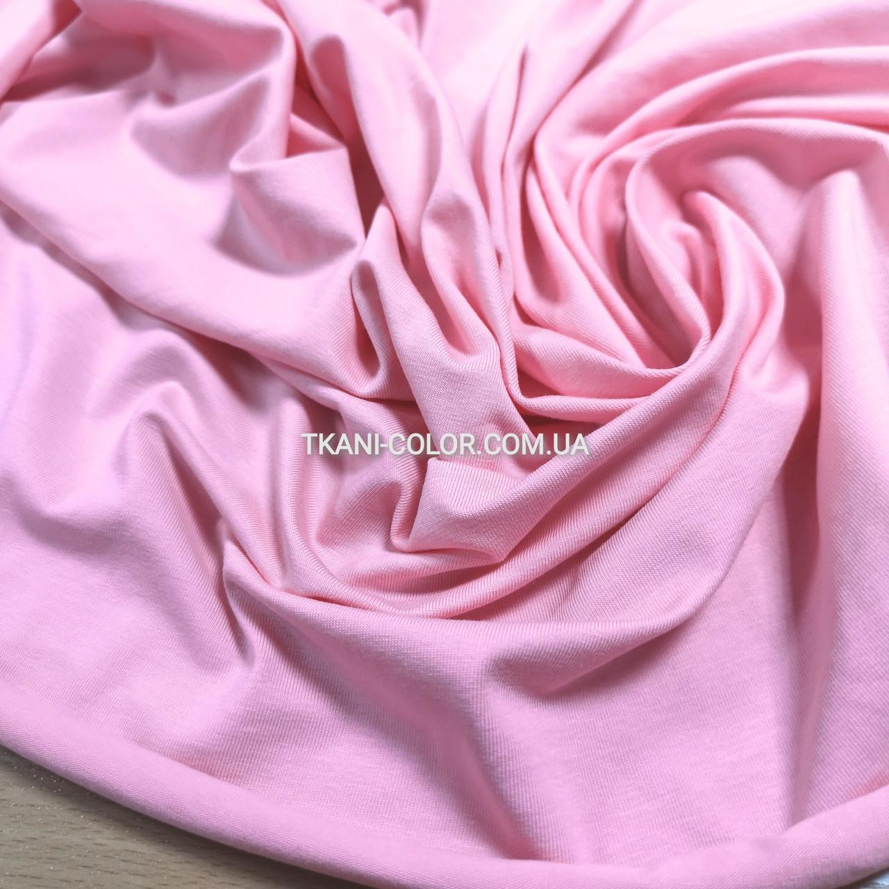 Ткань кулир стрейч розовый