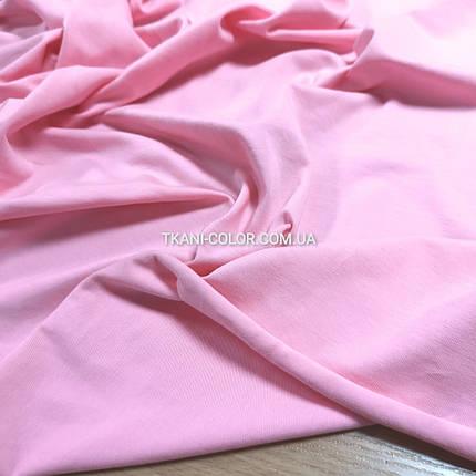 Ткань кулир стрейч розовый, фото 2