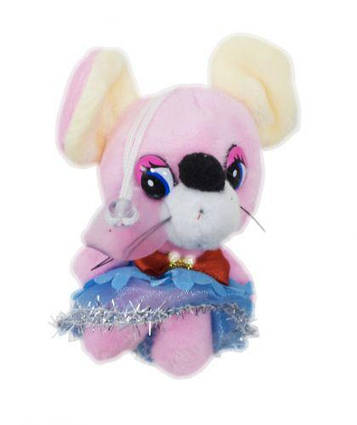 Мышка в юбочке (розовый) H-4