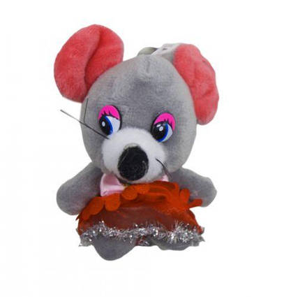 Мышка в юбочке (серый) H-4