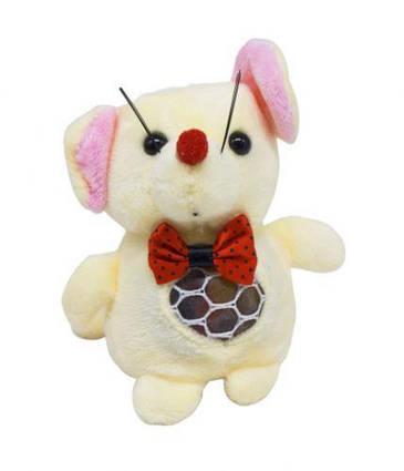 """Мягкая игрушка """"Мышка с орбизами"""" (бежевая) H-55"""