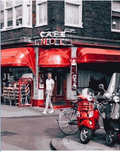 Картина по номерамУличное кафе в Париже 25368 40*50