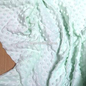 Ткань плюш Минки пупырышки мята