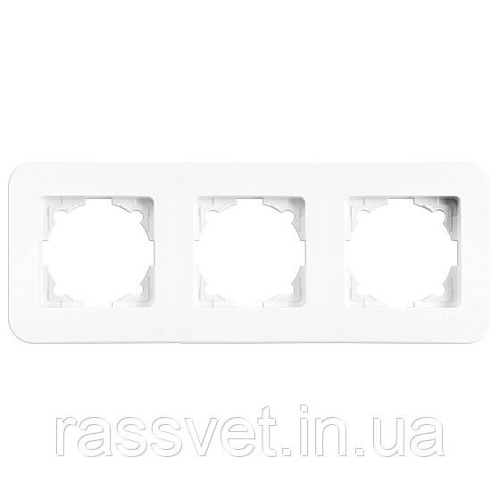 Рамка 3-я горизонтальная Rollina (Белая) Viko