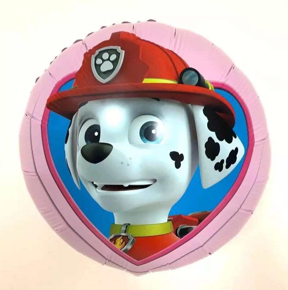 Фольгированный воздушный шар щенячий патруль маршалл 45 см