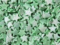 Посыпки кондитерские — Звезды зеленые перламутровые
