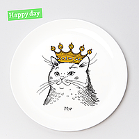 Тарелка «Кошка в короне» 25см
