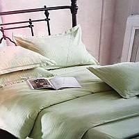 """""""Фисташковый"""" Комплект постельного белья Lux евро размер 200*220,ткань страйп-сатин"""