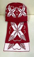 Комплект шапка и шарф красный Dolce&Gabbana