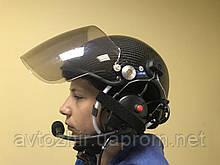 Шлем авиационный с гарнитурой