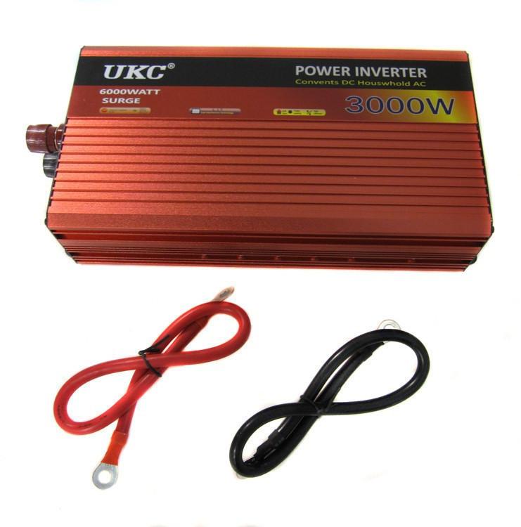 Преобразователь UKC 3000W 12V авто инвертор AC/DC