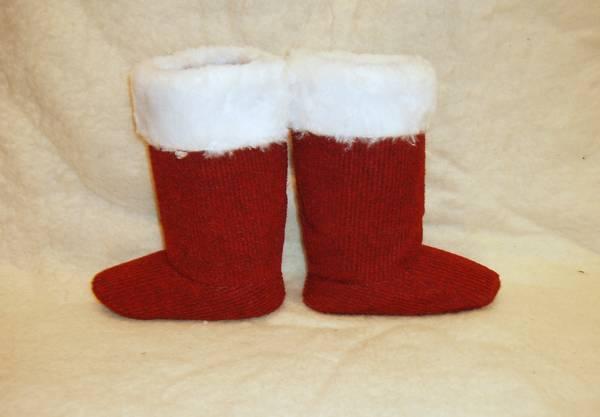 Сапожки Деда Мороза детские бордовые (размер 28)