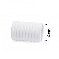 Резинка микрофибра. 10 шт. 4 см. Калуш. Цвет белый
