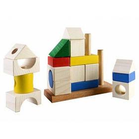 Дерев'яна пірамідка-конструктор Toysi Споруда КОД: TOY-27774