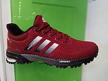 Чоловічі кросівки в стилі Adidas Marathon TR burgundy