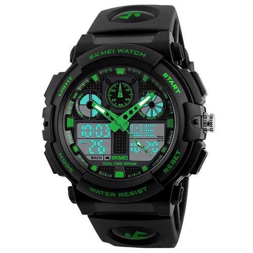 Часы наручные Skmei 1270 Зеленые (KD-059512S211)
