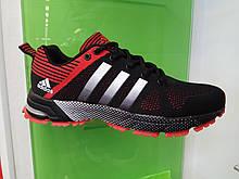 Чоловічі кросівки в стилі Adidas Marathon Black Red