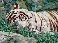"""Схема для полной зашивки бисером -""""Белый тигр"""""""