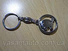 Брелок металлический простой Skoda Уценка эмблема Шкода автомобильный на авто ключи