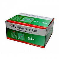 Шприцы инсулиновые BD Micro-Fine+ 0,5мл 8мм 10шт.